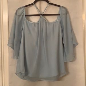 Lovers + Friend pale blue blouse XS New